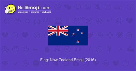 Flag: New Zealand Emoji Meaning with Pictures: from A to Z