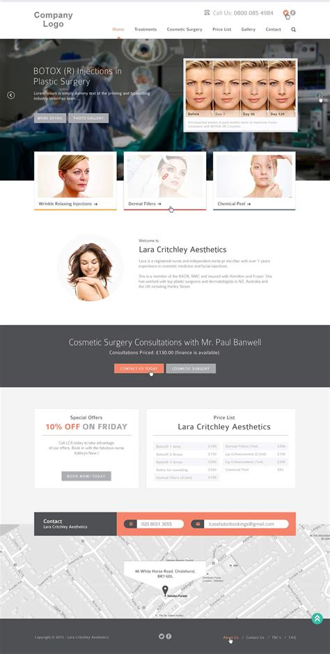 Cosmetic & Plastic Surgery Web Template | Ved Web Services