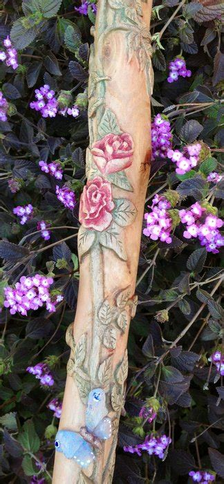 """Meet """"Rose"""" the carved walking stick - by TJ65"""