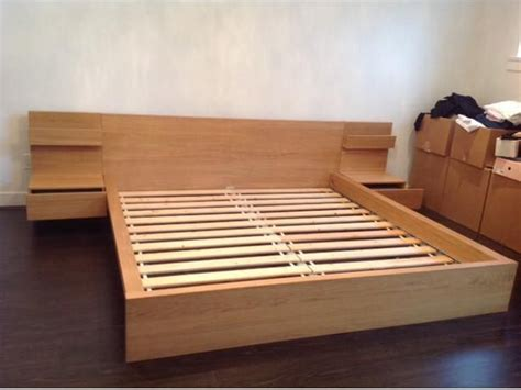 Ikea King frame w/side tables (IN VANCOUVER)   Bed frames