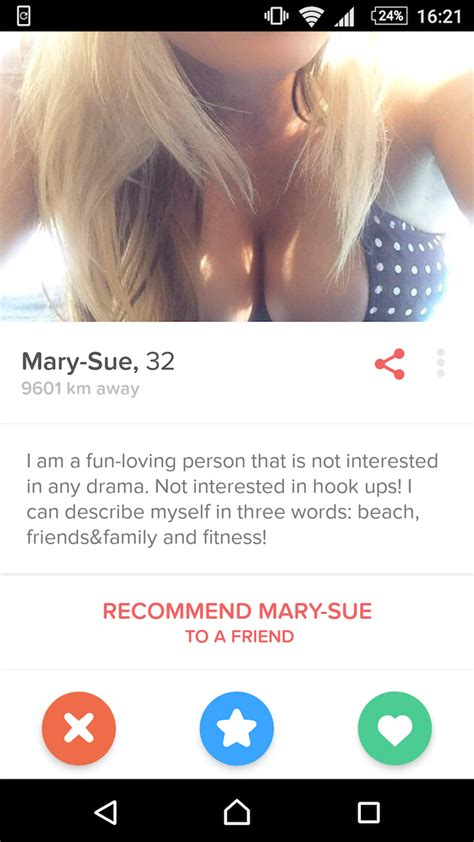 Look How 'Not Interested' In Hooking Up This Girl On Tinder Is