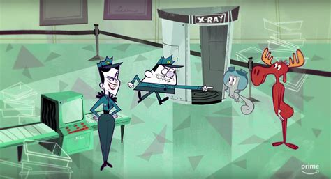 Rocky and Bullwinkle Clip Sends Boris and Natasha after