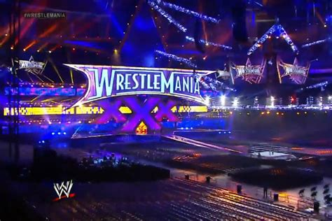 WrestleMania 30 stage set up revealed at the Mercedes-Benz