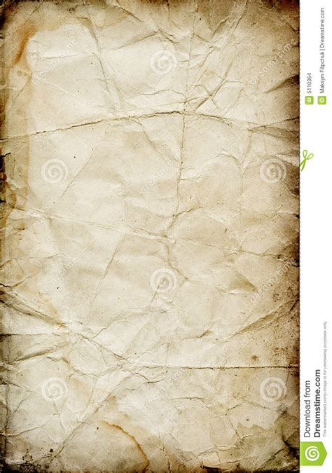 Grunge Folded Paper Texture Stock Images - Image: 5110364