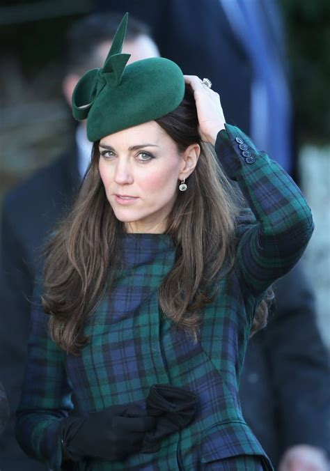 Kate Middleton wore a plaid coat and matching hat to the