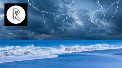 Thunderstorm & Waves for deep sleep, relaxing nature sound