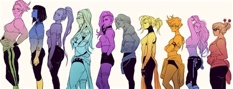 Overwatch Ladies Height Chart | Overwatch | Know Your Meme