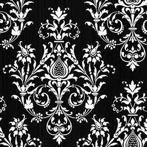 damask wallpaper black white and red |