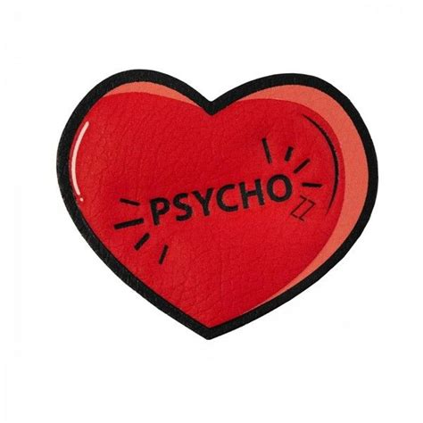 Psycho Heart Sticker liked on Polyvore featuring