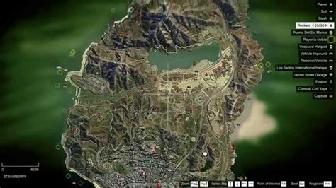 Satellite Map + Collectibles on Map - GTA V PC - YouTube