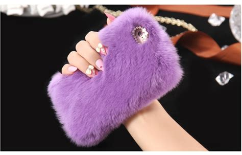 i7/ Note 7 Genuine Rabbit Fur Case For iPhone 6 6S 4