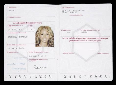 """BEYONCE KNOWLES """"PINK PANTHER"""" PASSPORT - Current price: $350"""