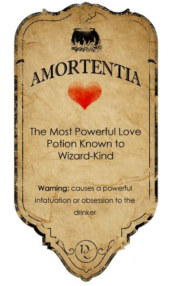 Amortentia potion label by ~rottenyouth on deviantART by