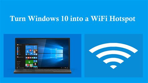 Turn Windows 10 Laptop into a WiFi Hotspot [How to] - YouTube