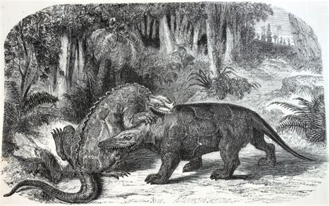 Strange 19th Century Drawings of Dinosaurs and Other