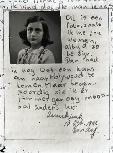 """A page from Anne Frank's diary, October 10, 1942: """"This is"""