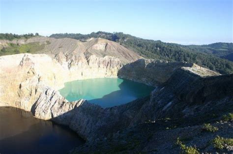 Mysterious Colored Volcanic Crater Lakes in Indonesia