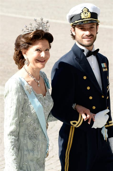 He escorted Queen Silvia at the wedding of his sister