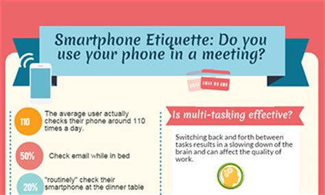 Smartphone etiquette: Do you use your phone in a meeting