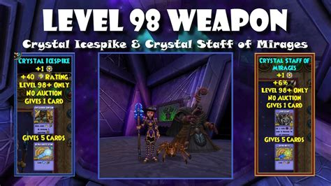 Wizard101 New Level 98 Weapon Spells - YouTube