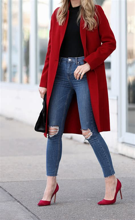 How To Wear a Bold Red Coat | Big Red | Brooklyn Blonde